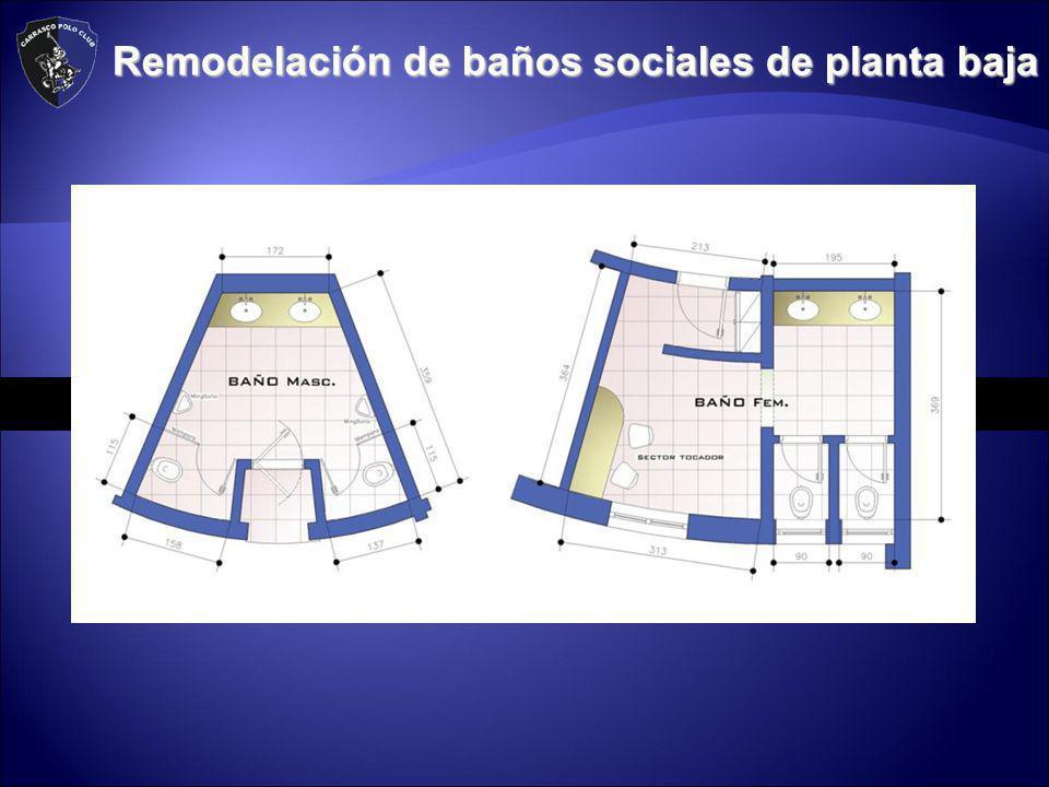 Remodelación de baños sociales de planta baja