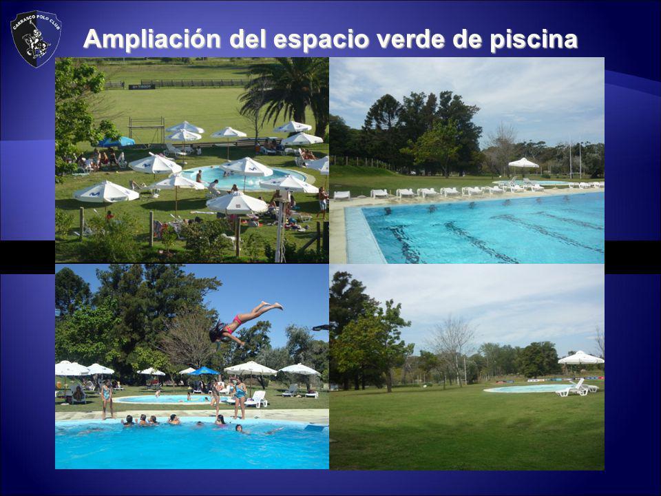 Ampliación del espacio verde de piscina
