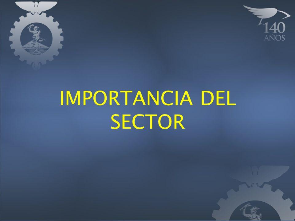 IMPORTANCIA DEL SECTOR