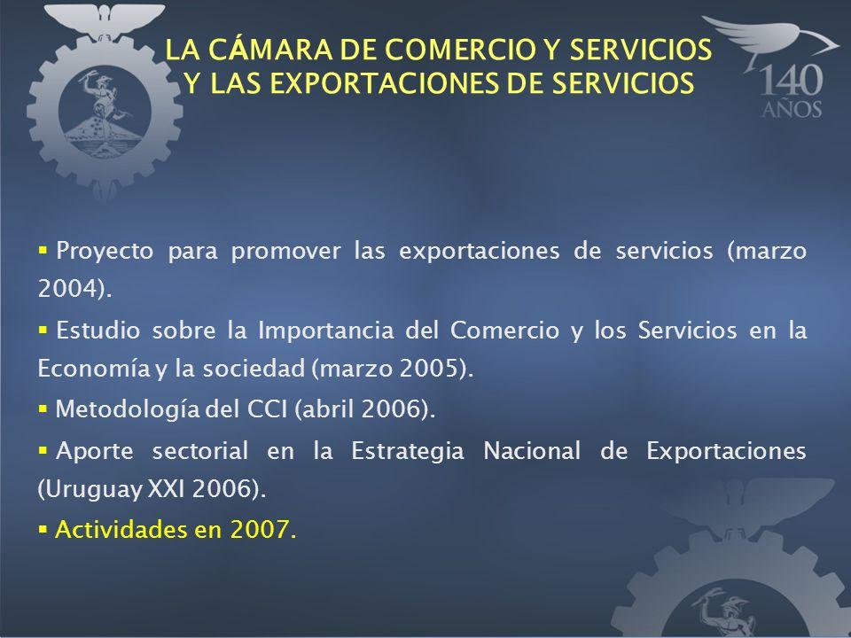 Proyecto para promover las exportaciones de servicios (marzo 2004). Estudio sobre la Importancia del Comercio y los Servicios en la Economía y la soci