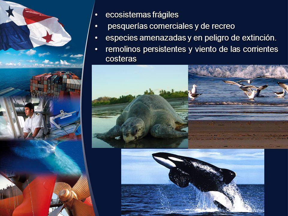 ecosistemas frágilesecosistemas frágiles pesquerías comerciales y de recreo pesquerías comerciales y de recreo especies amenazadas y en peligro de ext