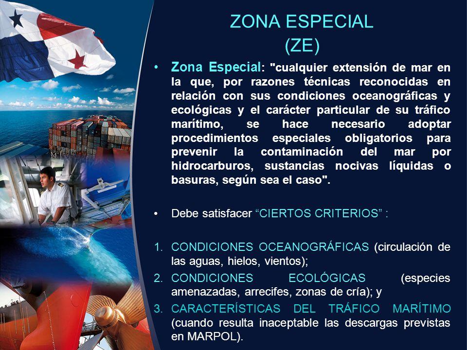 ZONA ESPECIAL (ZE) Zona Especial :