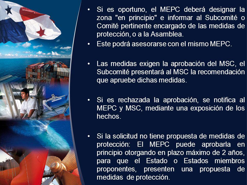 Si es oportuno, el MEPC deberá designar la zona