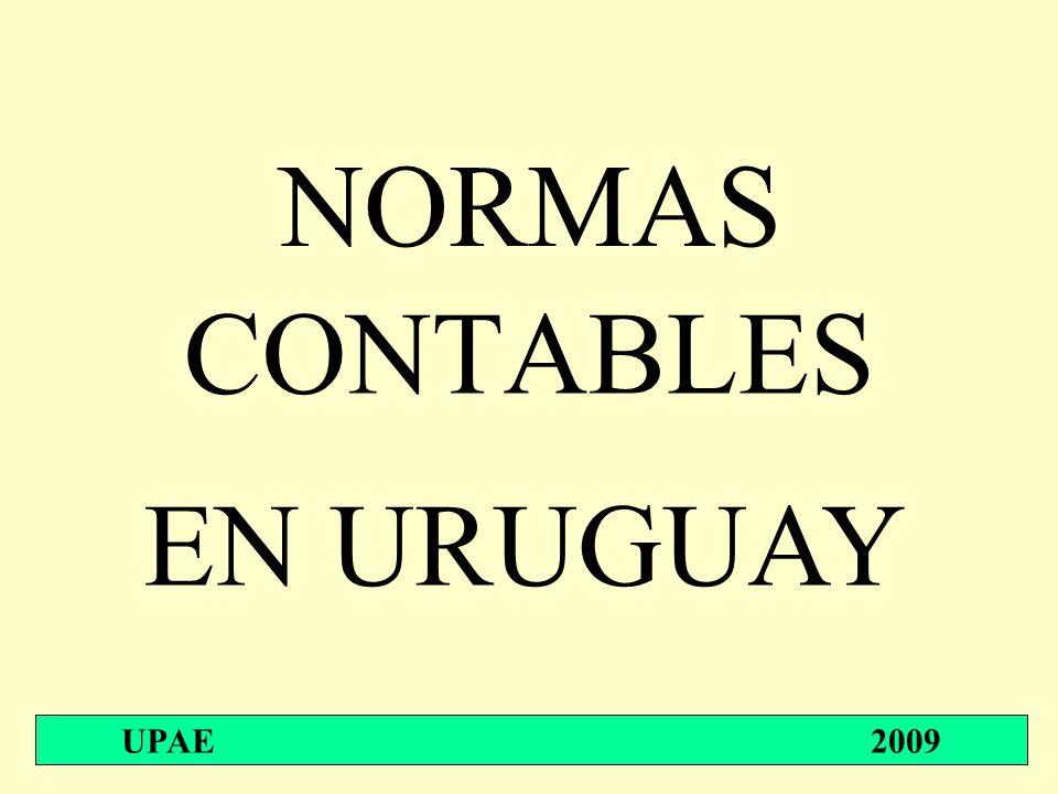 NORMAS CONTABLES UPAE 2009 EN URUGUAY