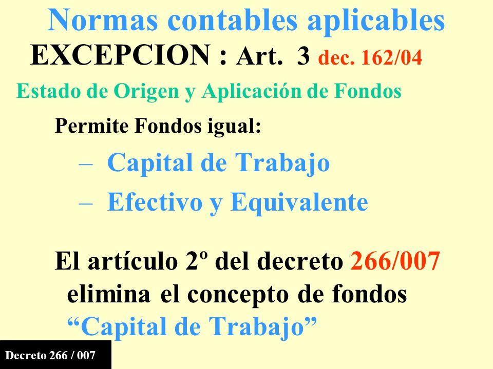 EXCEPCION : Art.3 dec.