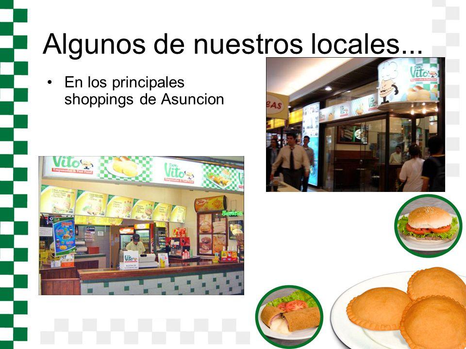 Algunos de nuestros locales... En los principales shoppings de Asuncion
