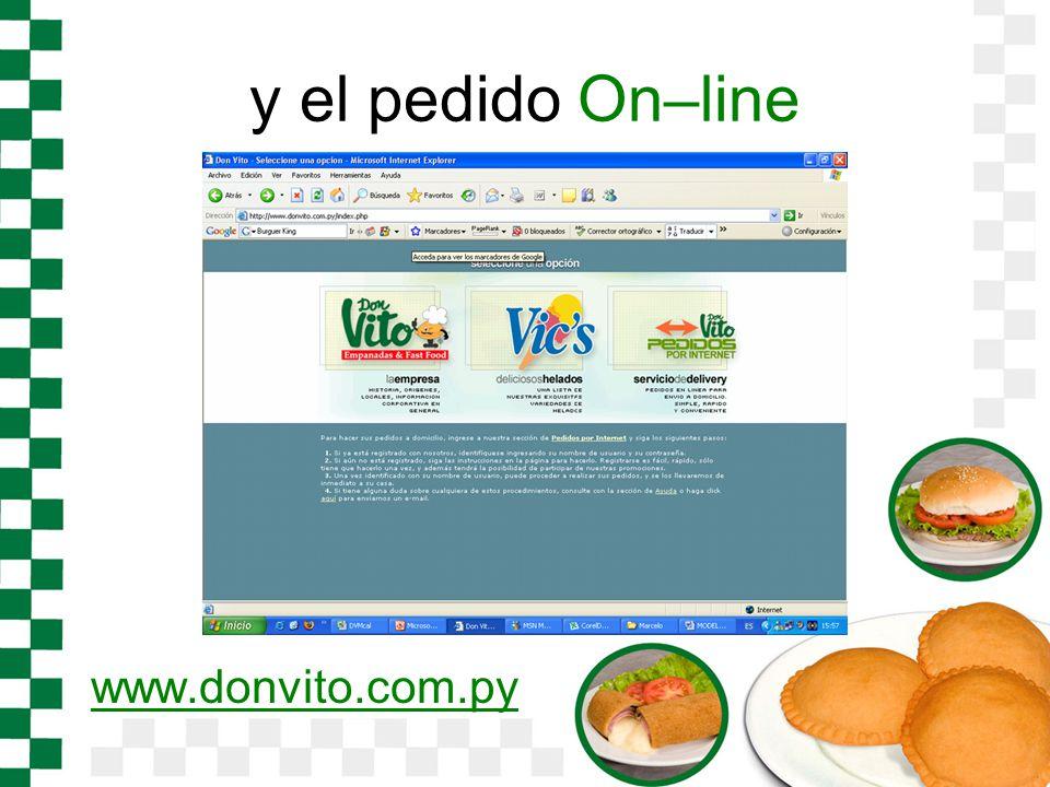 y el pedido On–line www.donvito.com.py