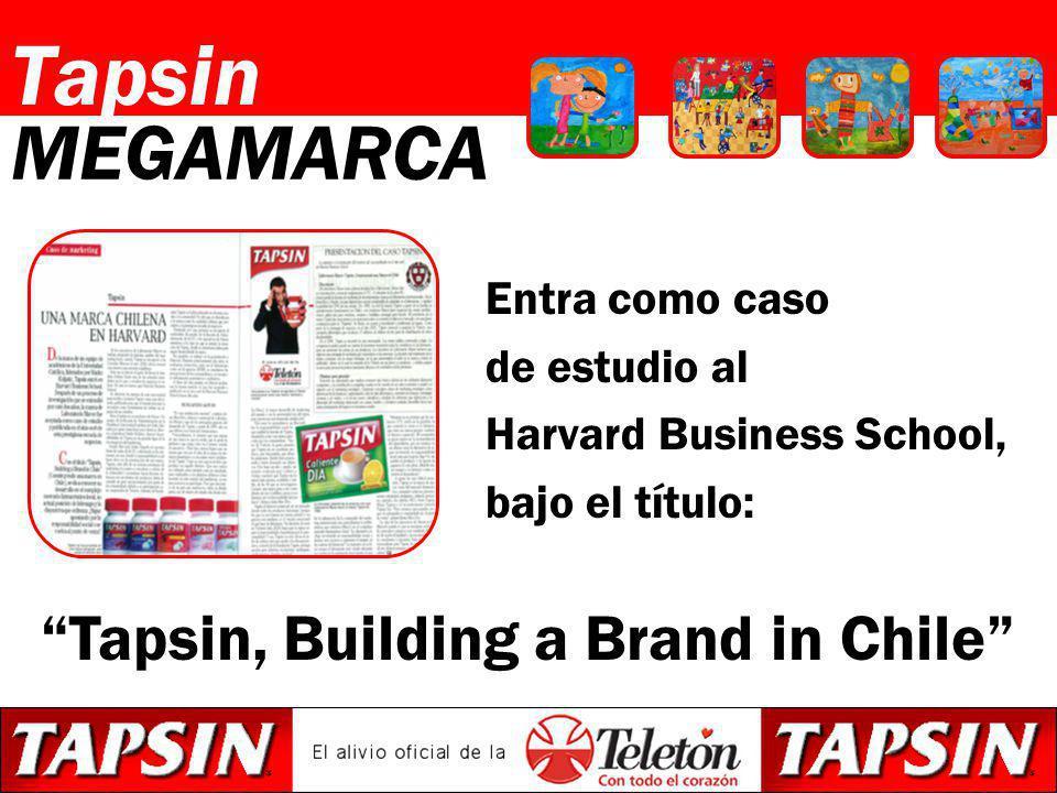 Entra como caso de estudio al Harvard Business School, bajo el título: Tapsin MEGAMARCA Tapsin, Building a Brand in Chile
