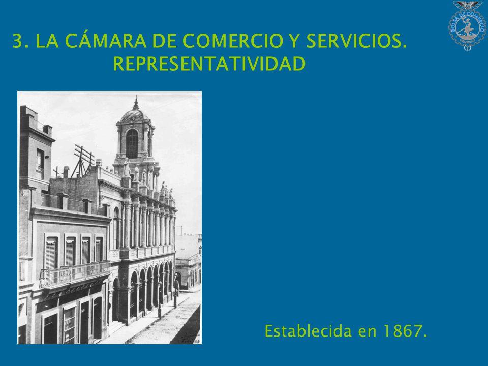 3. LA CÁMARA DE COMERCIO Y SERVICIOS. REPRESENTATIVIDAD Establecida en 1867.