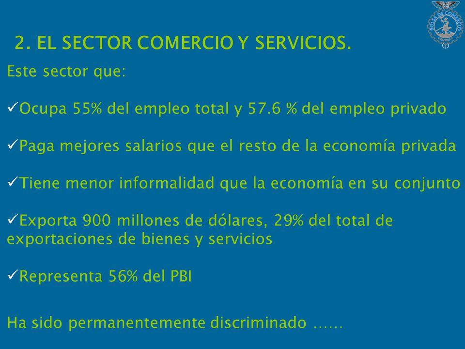 2. EL SECTOR COMERCIO Y SERVICIOS.