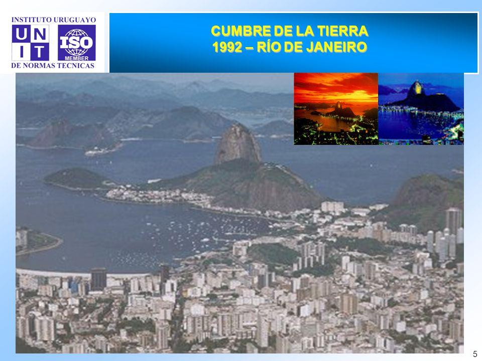 5 CUMBRE DE LA TIERRA 1992 – RÍO DE JANEIRO