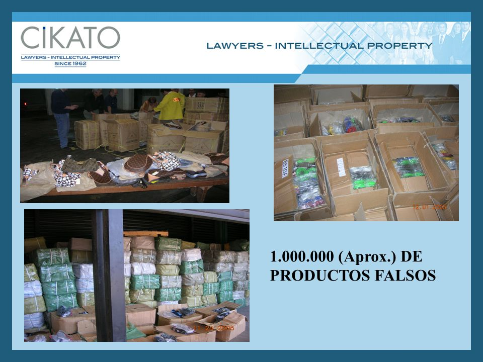 1.000.000 (Aprox.) DE PRODUCTOS FALSOS