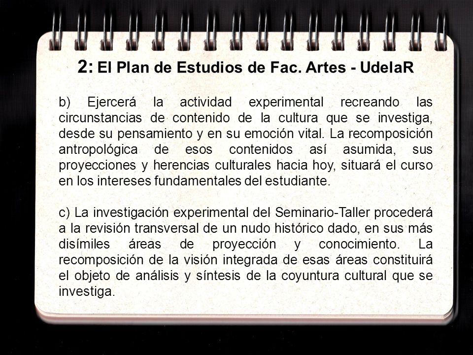 2: El Plan de Estudios de Fac.