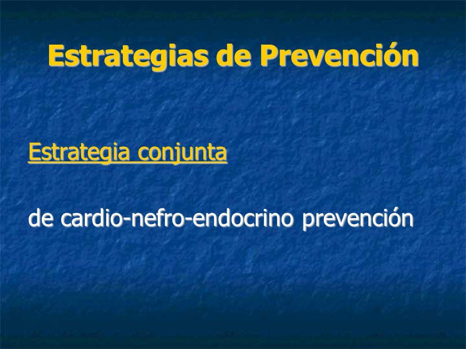 Estrategias de Prevención Estrategia conjunta de cardio-nefro-endocrino prevención