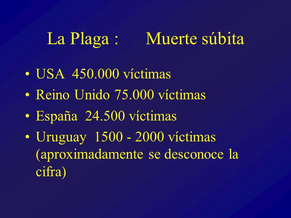 La Plaga : Muerte súbita USA 450.000 víctimas Reino Unido 75.000 víctimas España 24.500 víctimas Uruguay 1500 - 2000 víctimas (aproximadamente se desconoce la cifra)