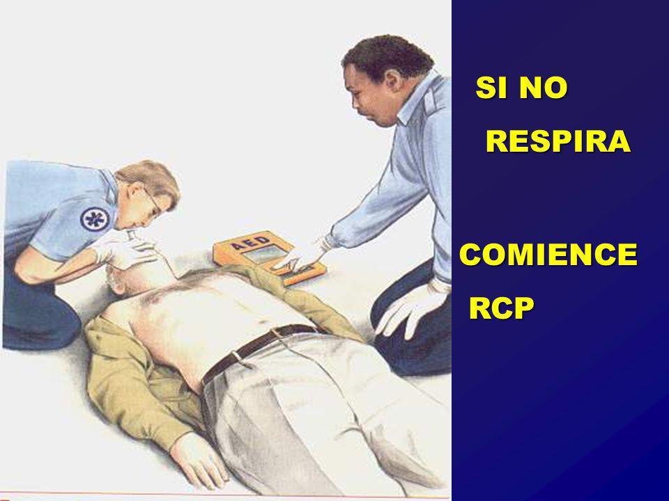 SI NO RESPIRA RESPIRA COMIENCE RCP RCP