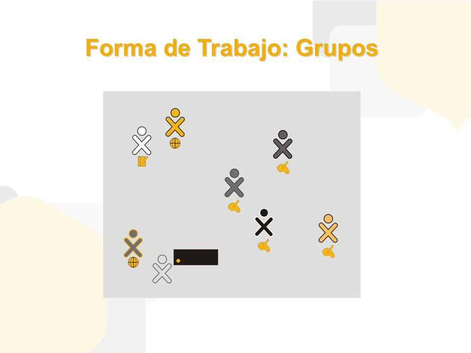 Forma de Trabajo: Grupos