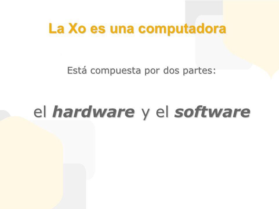 La Xo es una computadora Está compuesta por dos partes: el hardware y el software