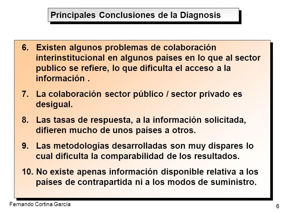 Fernando Cortina García 6 6. Existen algunos problemas de colaboración interinstitucional en algunos países en lo que al sector publico se refiere, lo