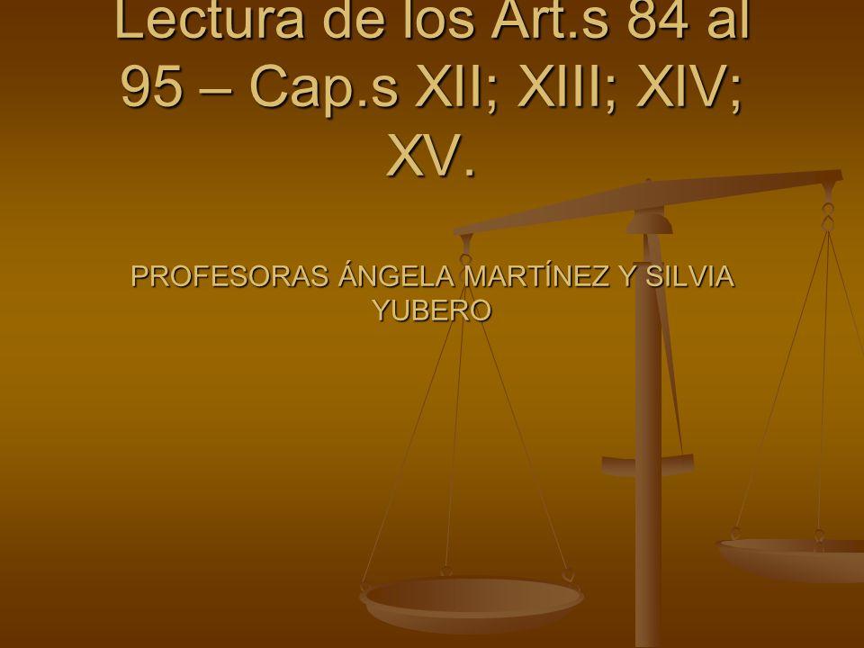 LEY DE EDUCACIÓN 18.437 de 16 de enero de 2009 Lectura de los Art.s 84 al 95 – Cap.s XII; XIII; XIV; XV.
