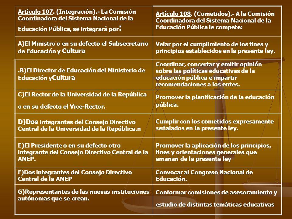 Artículo 107.