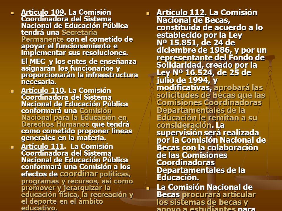 Artículo 109.