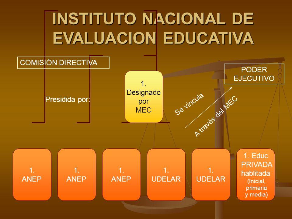 INSTITUTO NACIONAL DE EVALUACION EDUCATIVA 1. Designado por MEC 1.