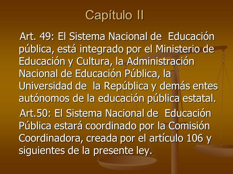 Sistema Nacional de Educación Pública Artículo 49 Prof. Adolfo Fajardo