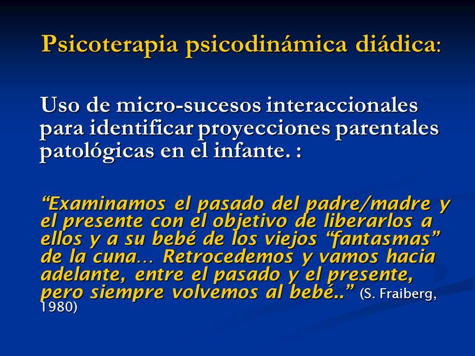 Psicoterapia psicodinámica diádica: Psicoterapia psicodinámica diádica: Uso de micro-sucesos interaccionales para identificar proyecciones parentales