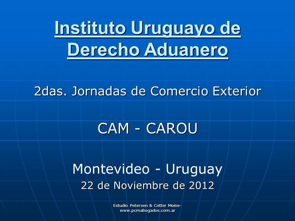 Estudio Petersen & Cotter Moine- www.pcmabogados.com.ar Instituto Uruguayo de Derecho Aduanero 2das.
