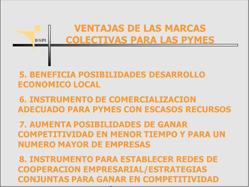 5.BENEFICIA POSIBILIDADES DESARROLLO ECONOMICO LOCAL 6.