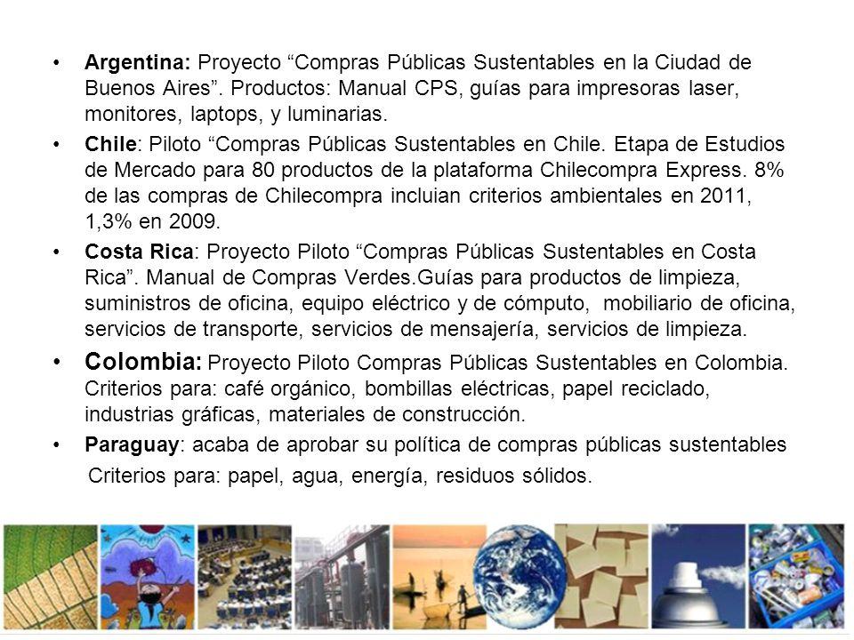 Compras Públicas Sustentables en Uruguay Iniciativas: Proyecto: Eficiencia Energética.