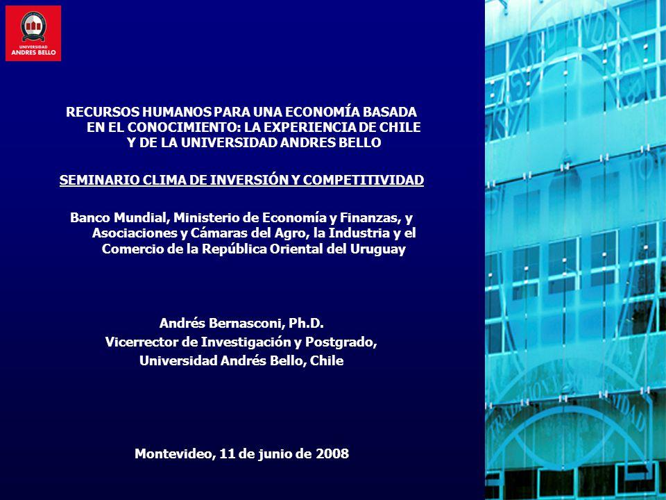 UNAB: Estrategias Contratación de investigadores con líneas de trabajo establecidas y financiadas por agencias públicas (v.g.