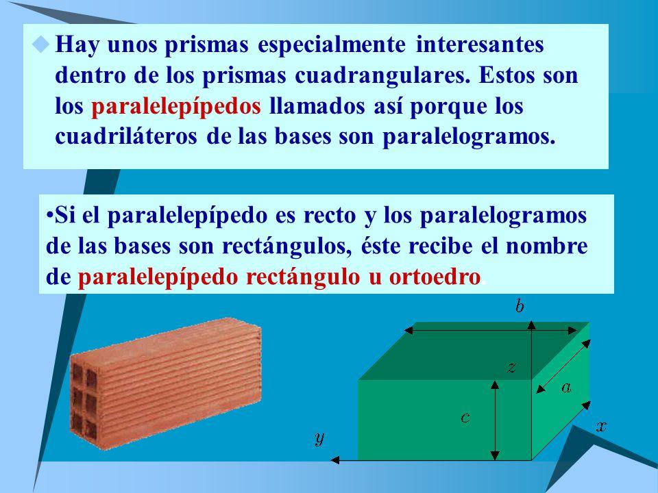 Hay unos prismas especialmente interesantes dentro de los prismas cuadrangulares.