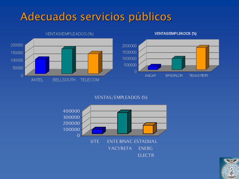 Adecuados servicios públicos