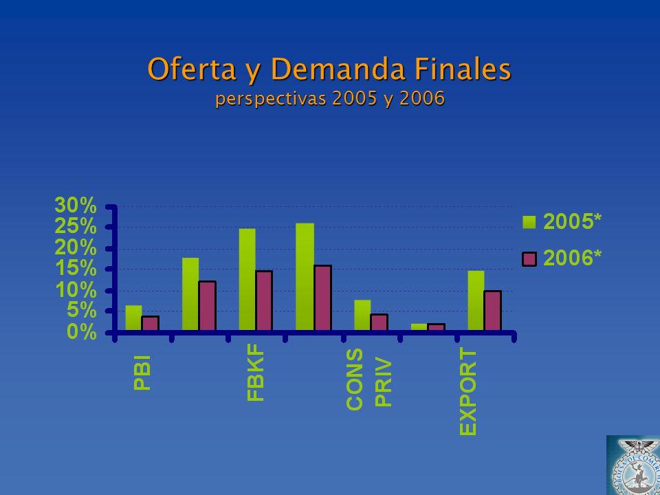 Oferta y Demanda Finales perspectivas 2005 y 2006