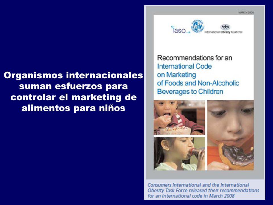 Organismos internacionales suman esfuerzos para controlar el marketing de alimentos para niños