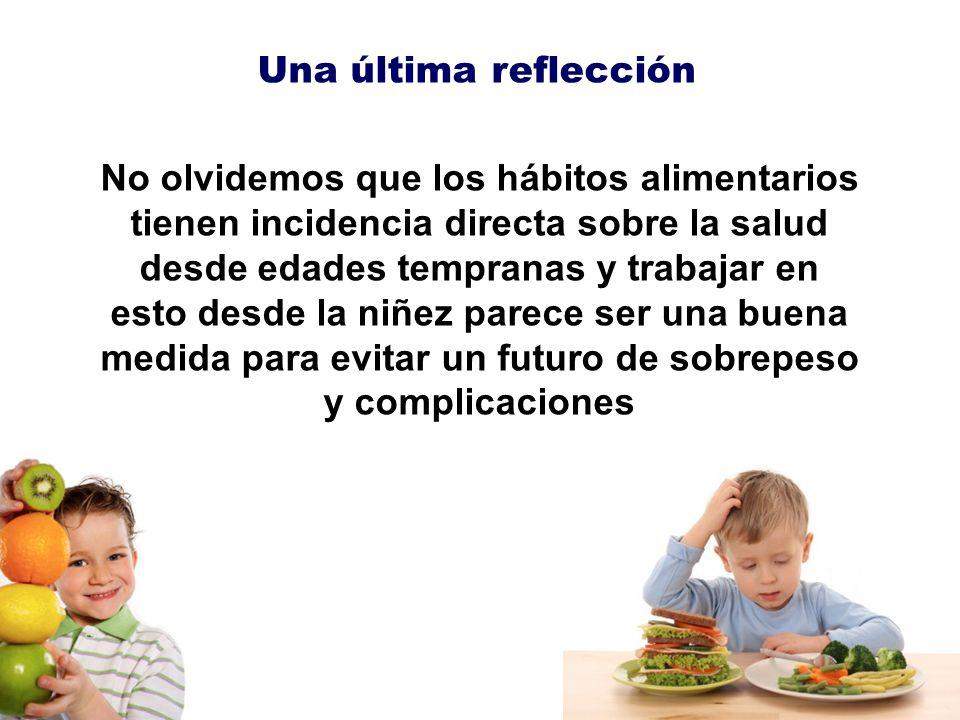 No olvidemos que los hábitos alimentarios tienen incidencia directa sobre la salud desde edades tempranas y trabajar en esto desde la niñez parece ser