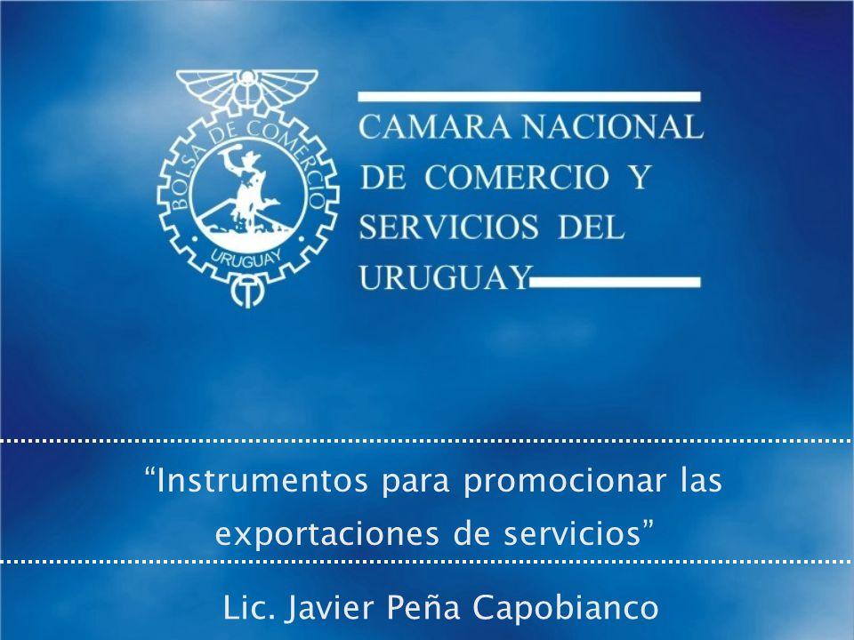 Instrumentos para promocionar las exportaciones de servicios Lic. Javier Peña Capobianco