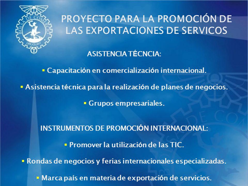 ASISTENCIA T É CNCIA: Capacitaci ó n en comercializaci ó n internacional. Asistencia t é cnica para la realizaci ó n de planes de negocios. Grupos emp