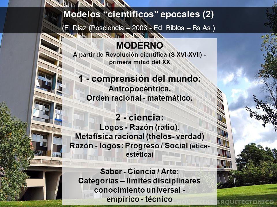 Modelos científicos epocales (2) (E.Diaz (Posciencia – 2003 - Ed.