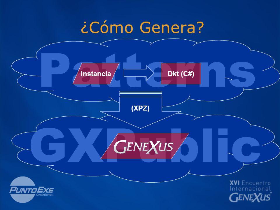 Patterns ¿Cómo Genera Dkt (C#)Instancia (XPZ) GXPublic