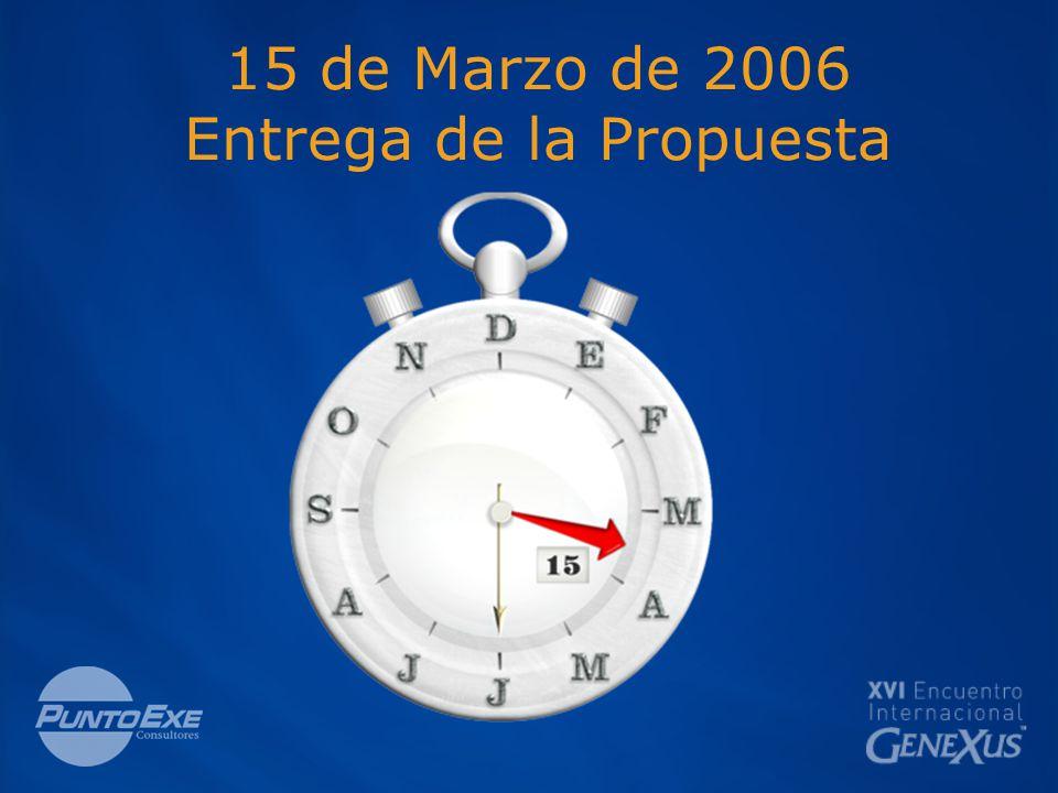 15 de Marzo de 2006 Entrega de la Propuesta