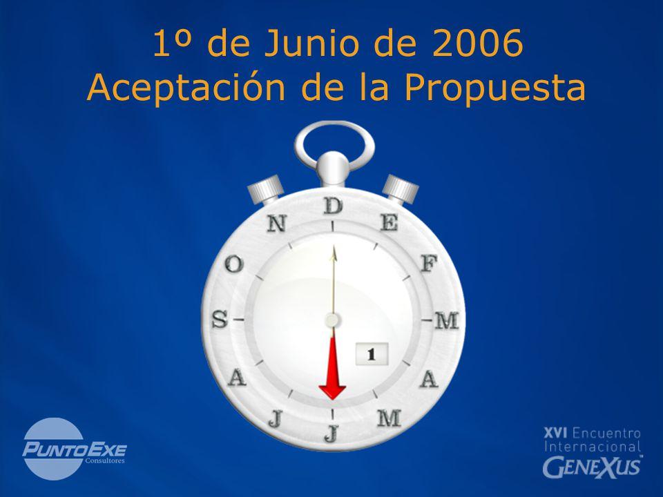 1º de Junio de 2006 Aceptación de la Propuesta