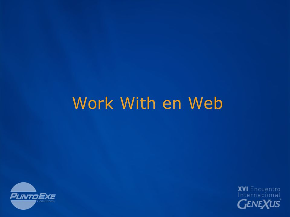 Work With en Web