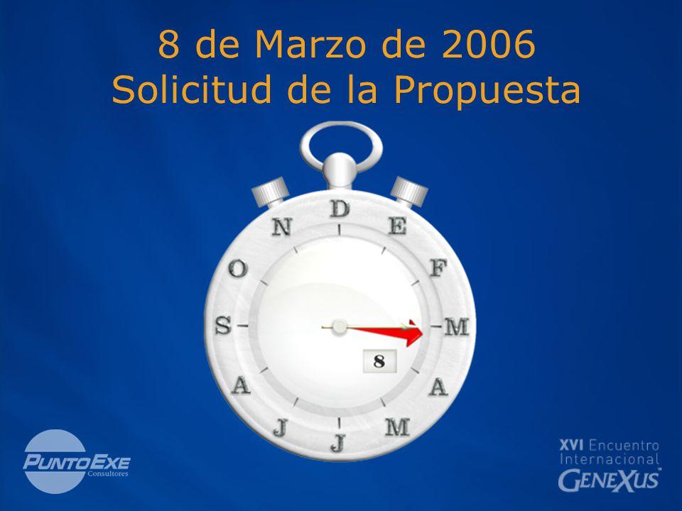 8 de Marzo de 2006 Solicitud de la Propuesta
