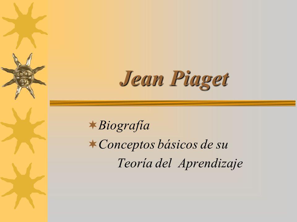 Jean Piaget Biografía Conceptos básicos de su Teoría del Aprendizaje