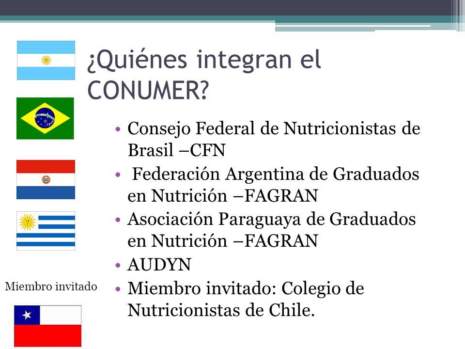 Son órganos del CONUMER - Resol.II, 1998 Secretaría General : CFN, FAGRAN, AUDYN, ASPAGRAN.
