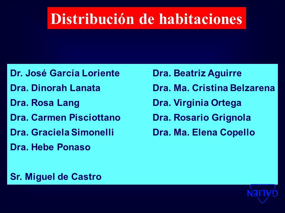 Distribución de habitaciones Dr.José García LorienteDra.