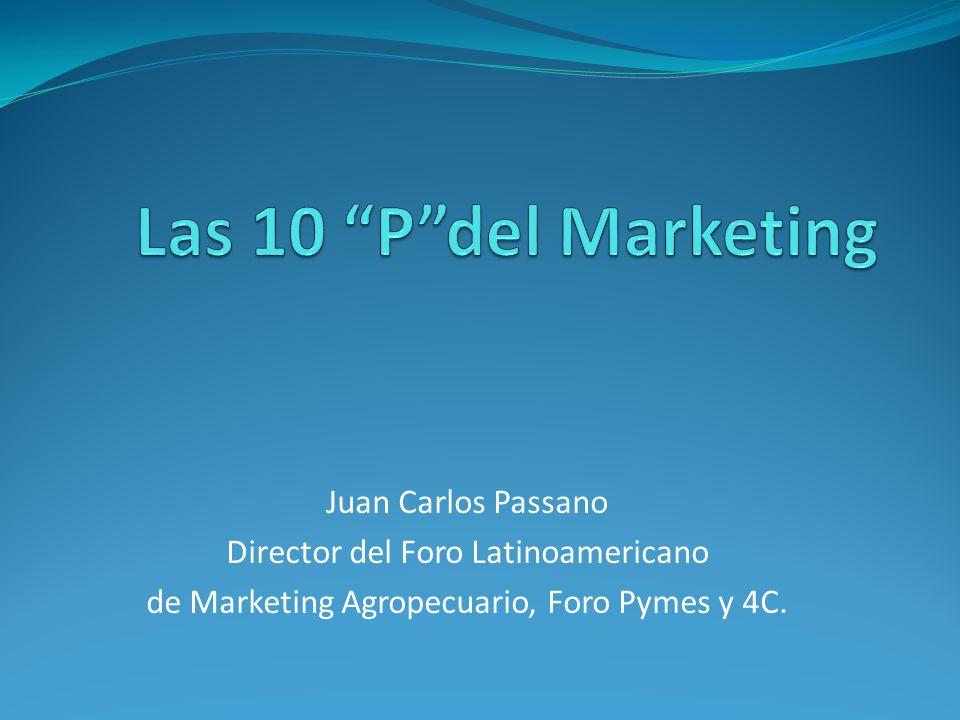 Juan Carlos Passano Director del Foro Latinoamericano de Marketing Agropecuario, Foro Pymes y 4C.